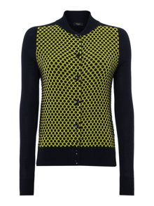 Knitted spotty jacket