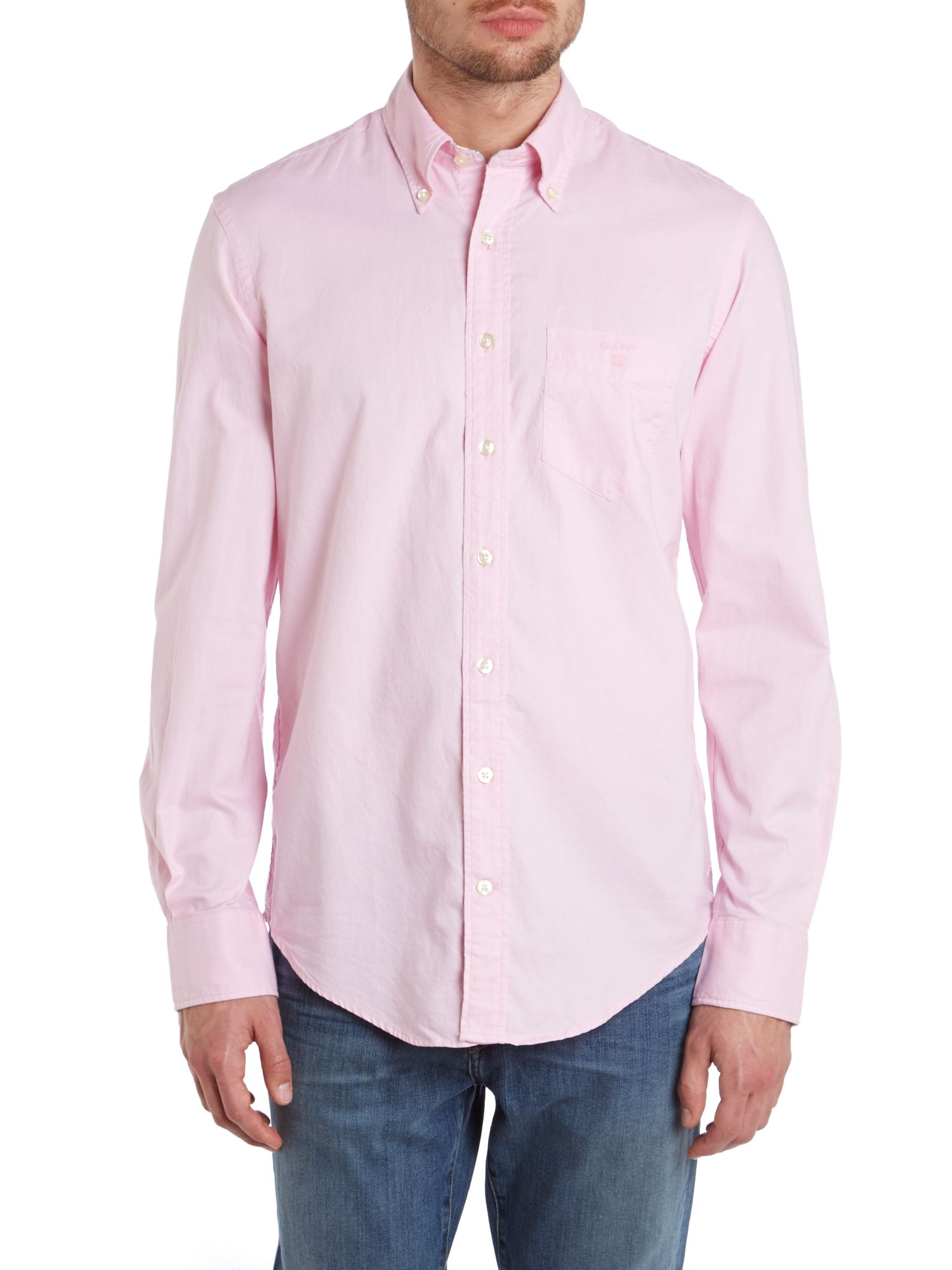 Long sleeve colour oxford shirt