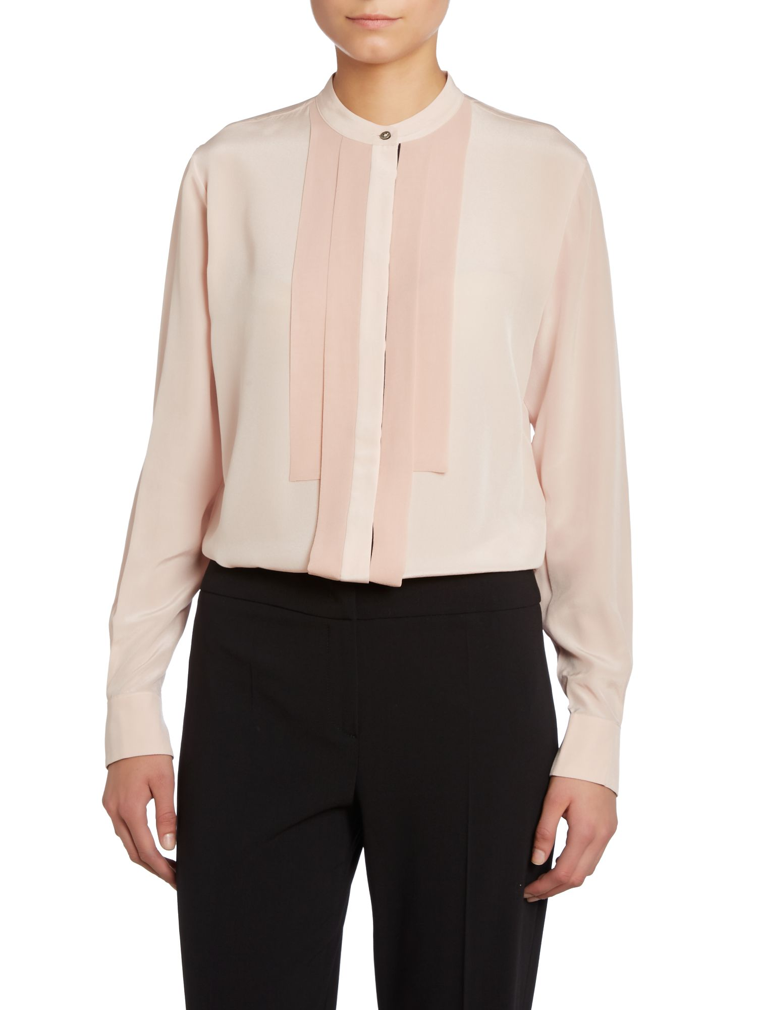 Long sleeved silk shirt