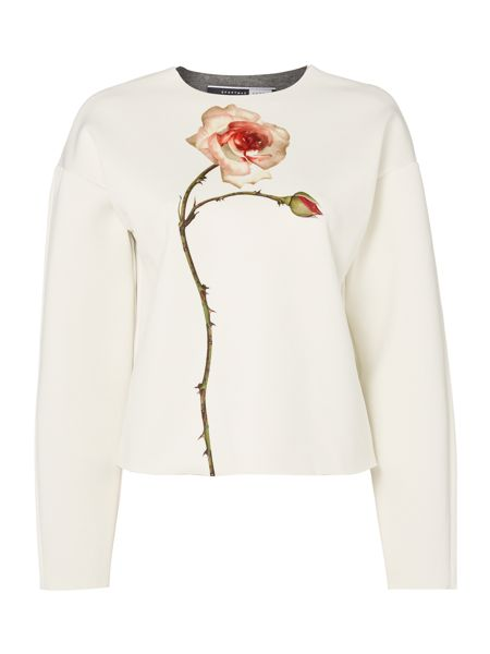 Sportmax Code White top with flower
