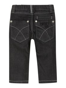 Baby boys coated denim jeans