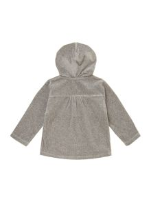 Baby girls terry velvet long sleeve cardigan