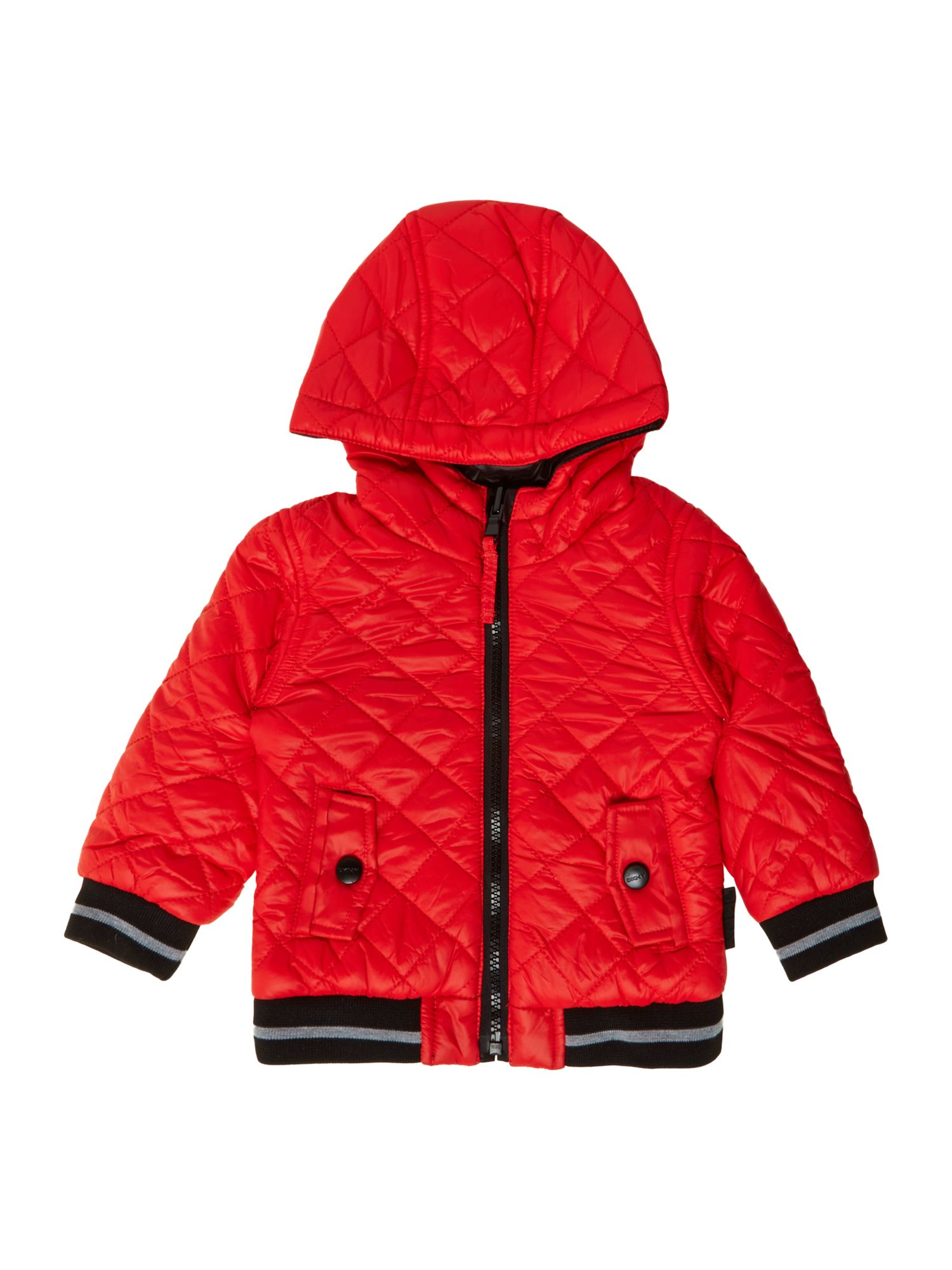 Boys reversible wool and fleece jacket