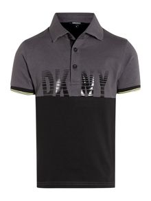 Boys jersey short sleeve polo shirt
