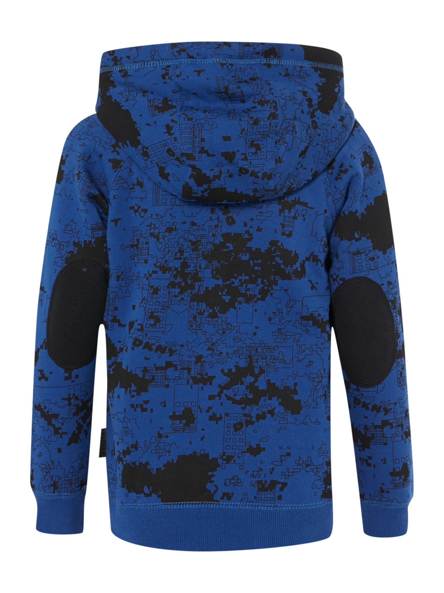 Boys printed fleece long sleeve cardigan