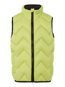 Boys quilted sleeveless down jacket