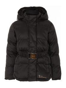 Girls wadded down jacket with belt