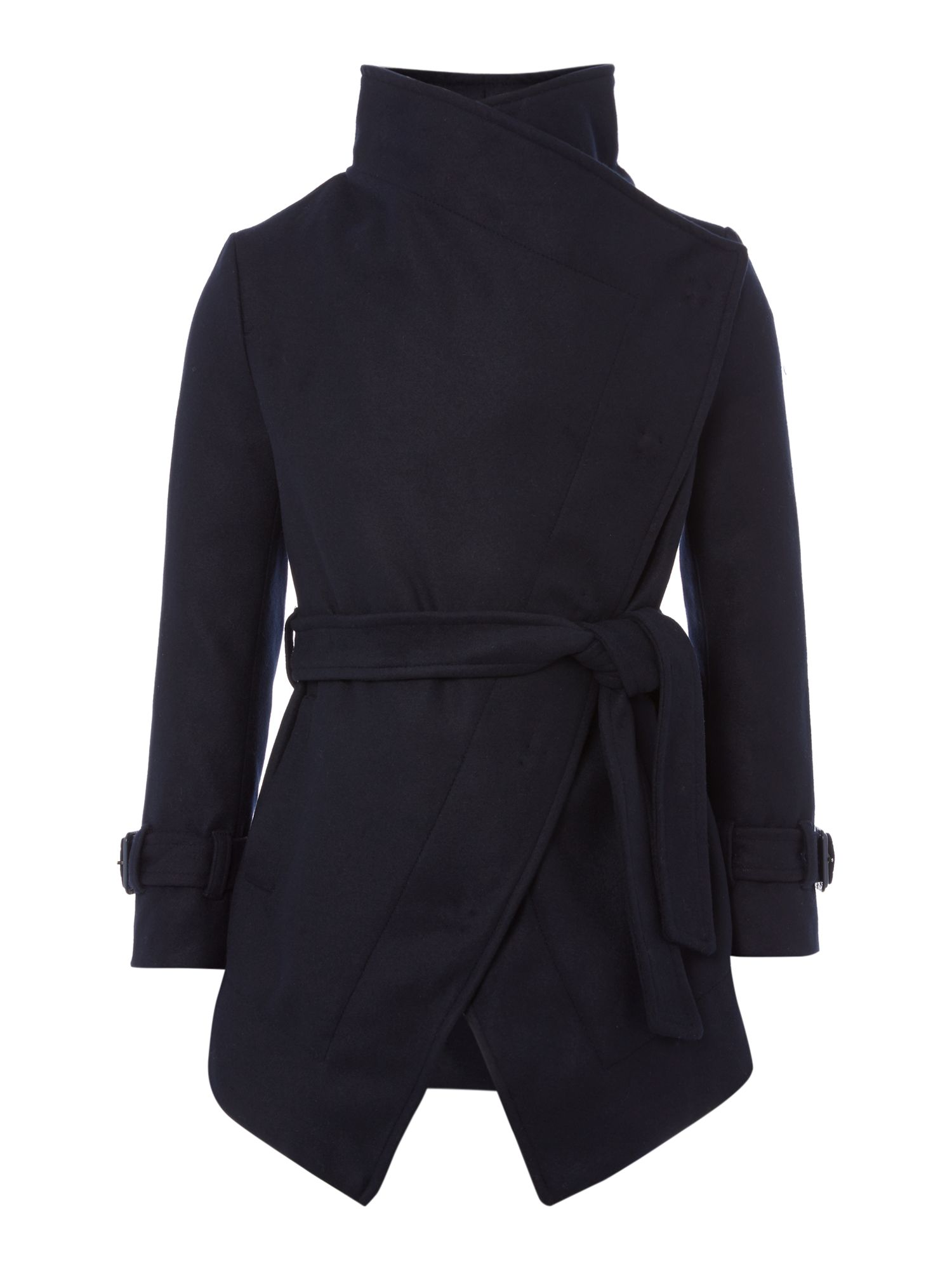 Girls wool coat with a belt