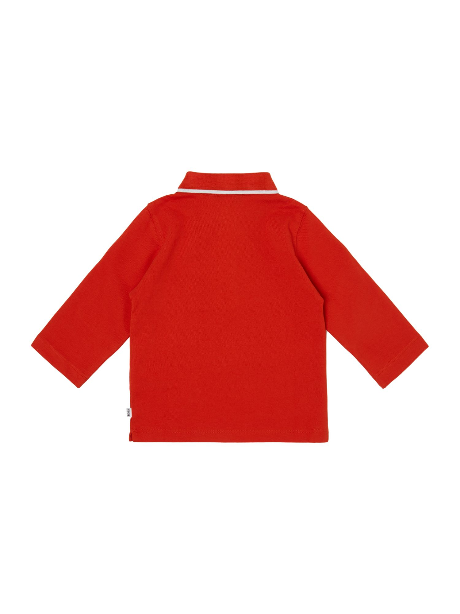 Boys cotton piqué long sleeve polo shirt