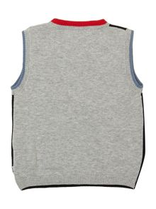 Baby boys pima cotton sleeveless sweater