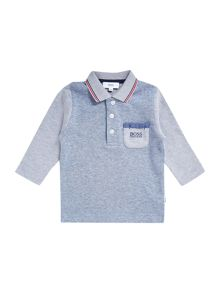 Baby boys cotton piqué long sleeve polo shirt