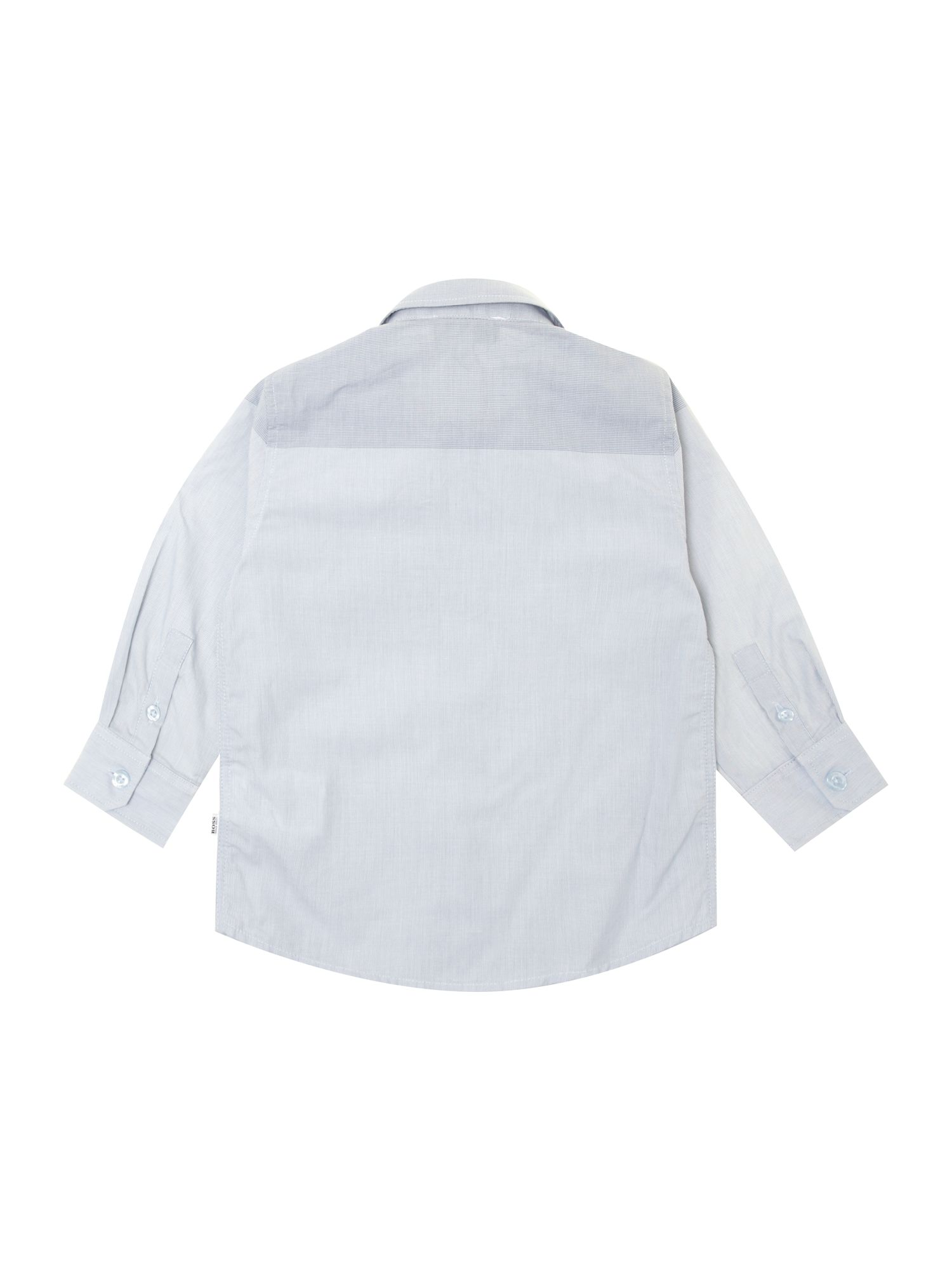 Baby boys check poplin long sleeve shirt