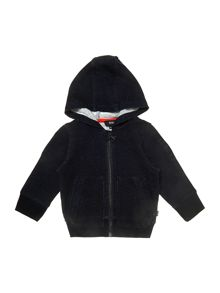 Baby boys denim fleece long sleeve cardigan