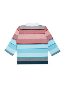 Baby boys jersey long sleeve polo shirt
