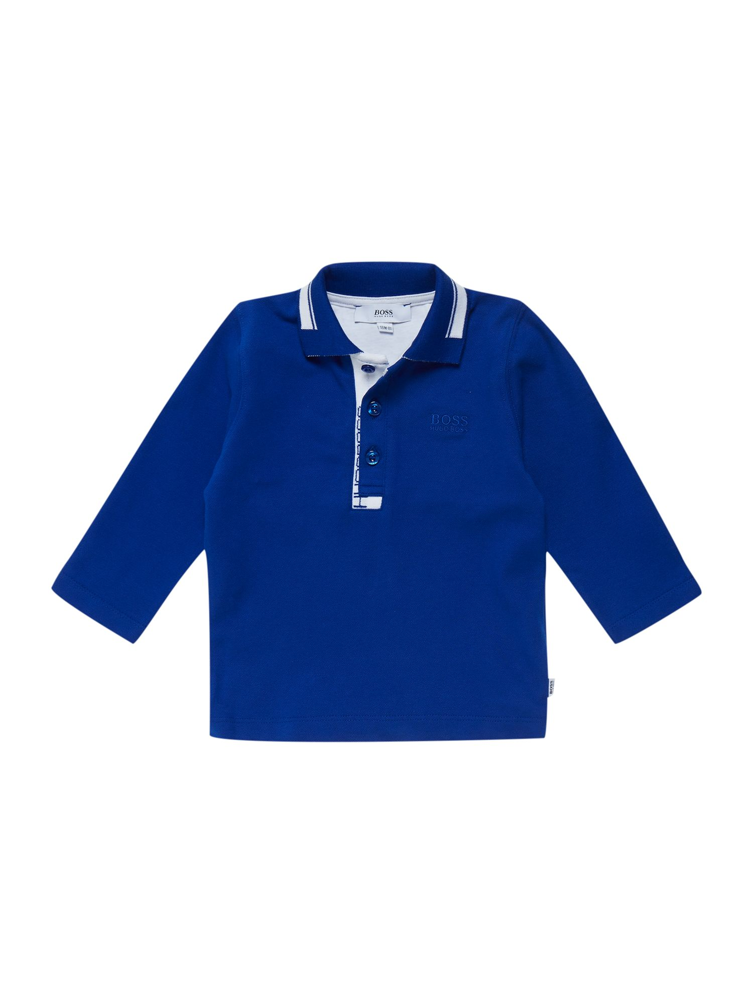 Boys jersey long sleeve polo shirt