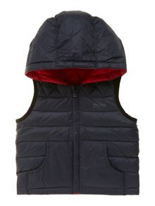 Baby boys reversible sleeveless down jacket