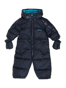 Baby boys shiny snowsuit