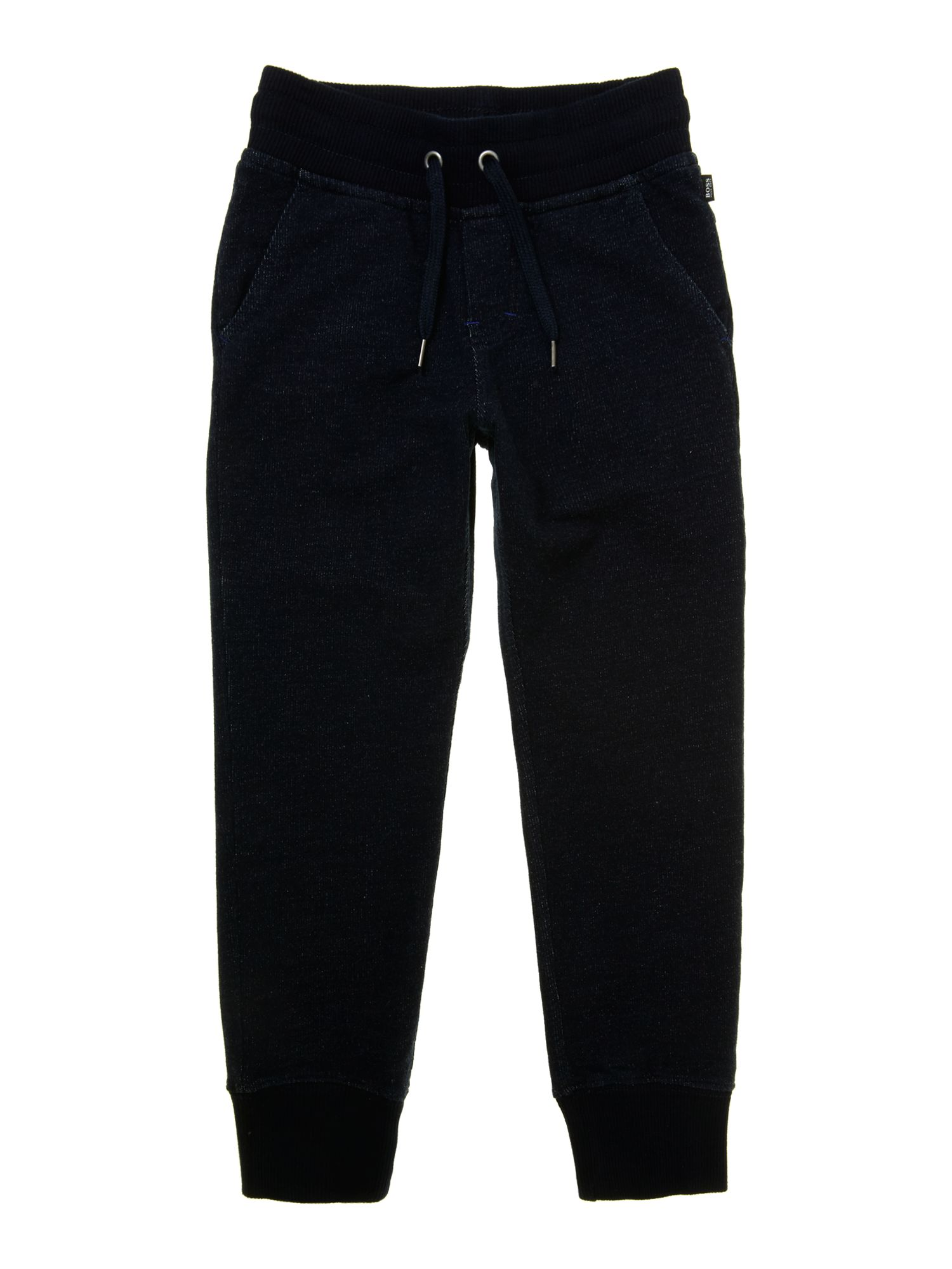 Boys denim fleece jogging bottoms
