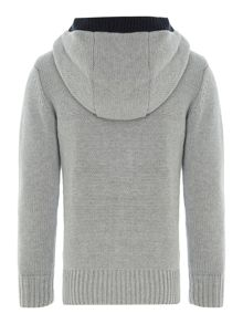 Boys wool knitted long sleeve zip hoody