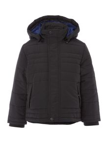 Boys coated long sleeve down jacket