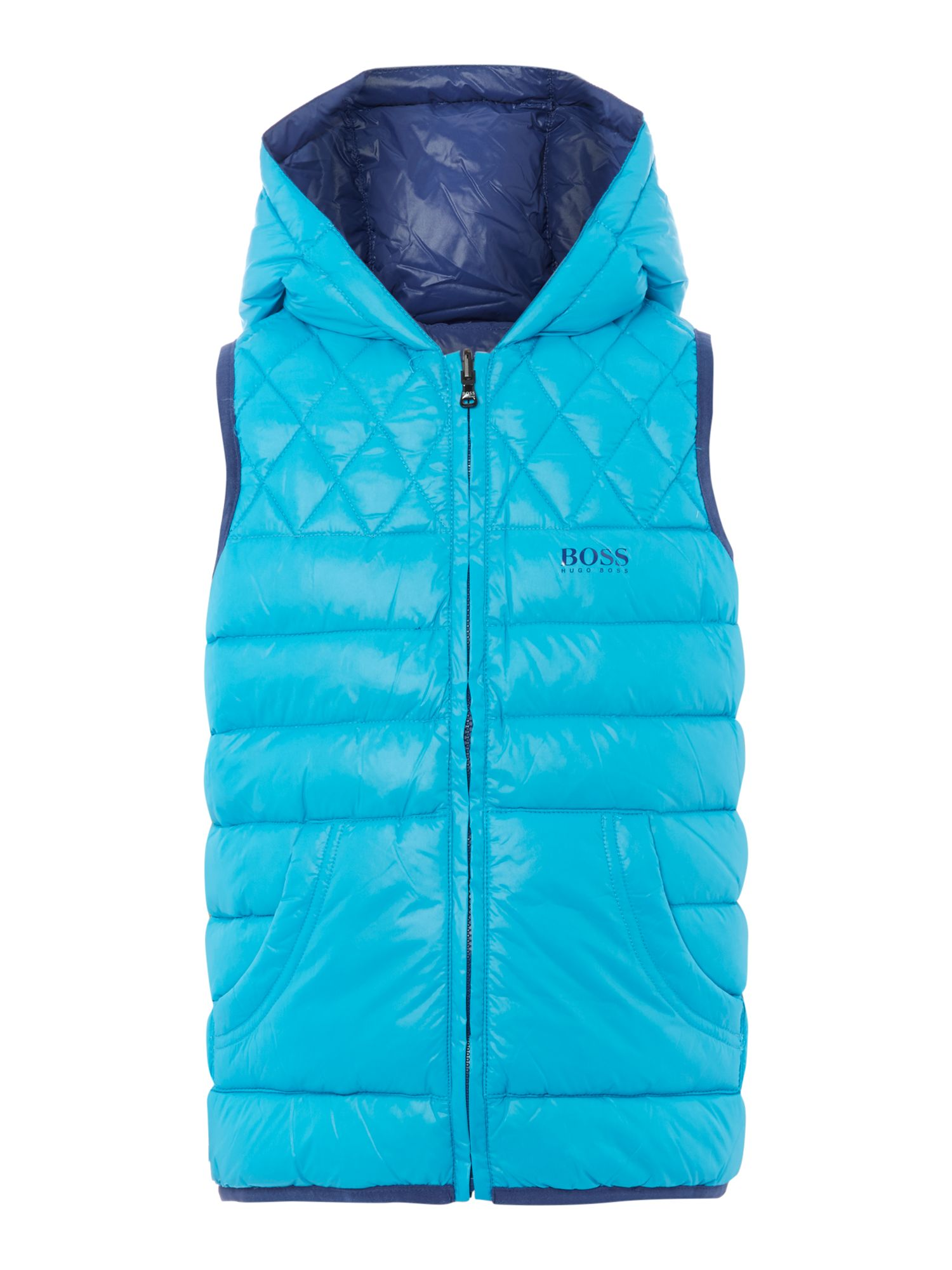 Boys reversible sleeveless down jacket