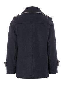 Boys wool reefer long sleeve jacket
