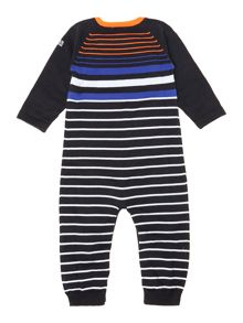 Baby boys pima cotton striped all-in-one
