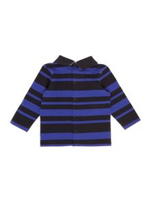 Baby boys striped long sleeve polo shirt