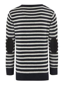 Boys stripped knitted long sleeve sweater