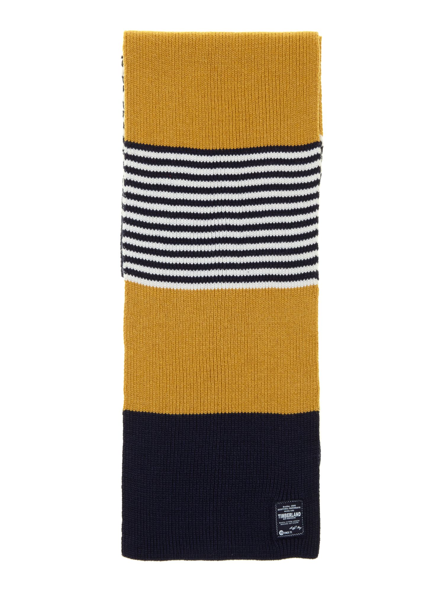 Boys knitted striped scarf