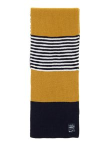 Baby boys knitted striped scarf