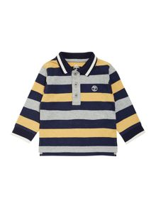 Baby boys jersey striped long sleeve polo shirt