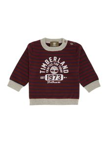 Baby boys knitted striped long sleeve sweater