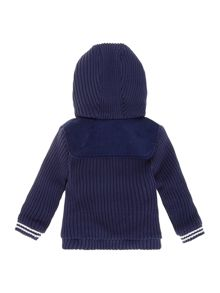 Baby boys knitted and corduroy cardigan