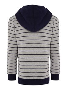 Boys fleece striped long sleeve sweater
