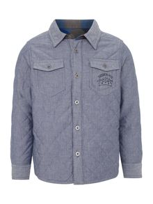 Boys quilted reversible overshirt