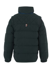 Boys removable sleeve down jacket