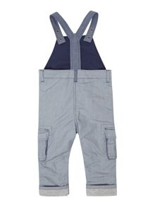 Baby boys striped poplin dungarees