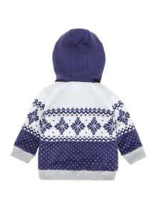 Baby boys knitted and quilted reversible cardigan