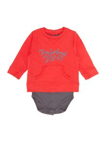 Baby boys jersey long sleeve t-shirt bodysuit