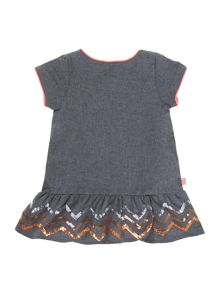 Baby girls flannel short sleeve dress