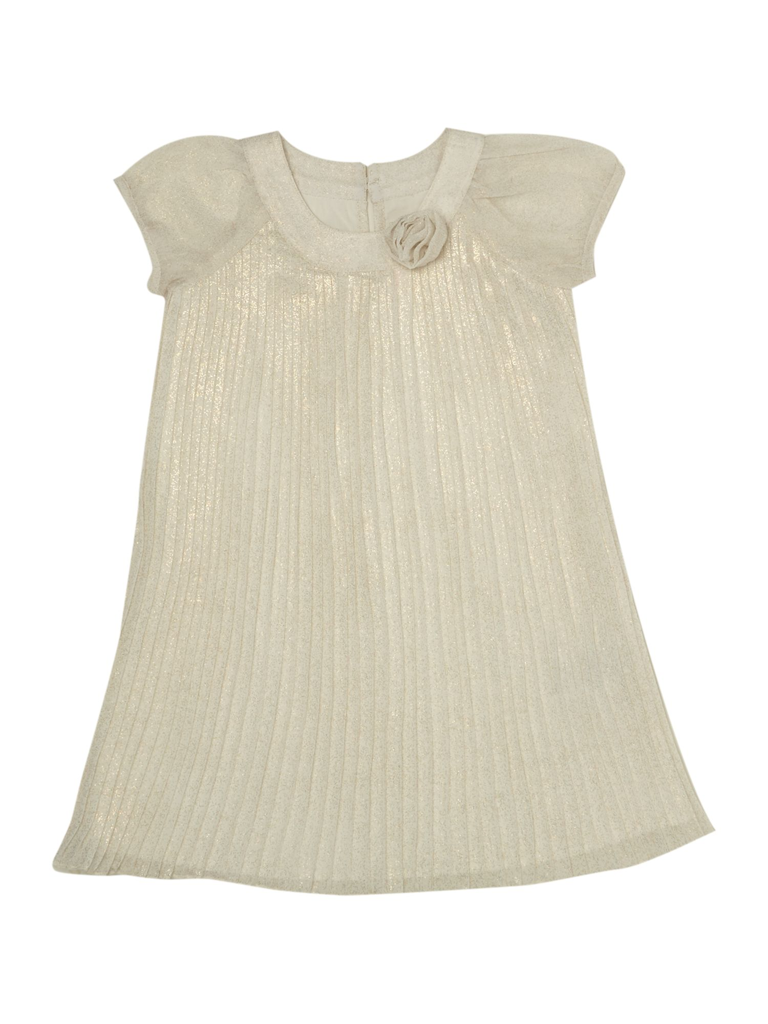 Baby girls satin pleated dress
