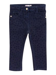 Baby girls fancy denim jeans