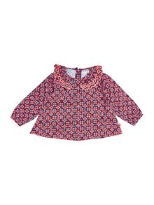 Baby girls printed long sleeve blouse