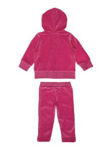 Baby girls terry velvet jogging set