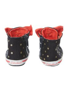 Girls polka dots trainers