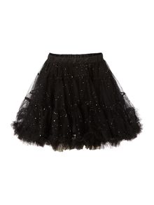 Girls glitter mesh tutu skirt.