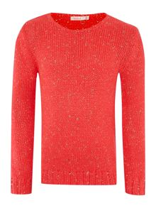 Girls knitted long sleeve sweater