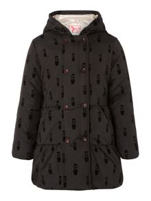 Girls flocked nylon parka