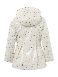 Girls printed raincoat